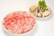 豚しゃぶ用の肉と野菜盛り合わせ-1