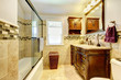 Nice Bathroom With Natural Sto...