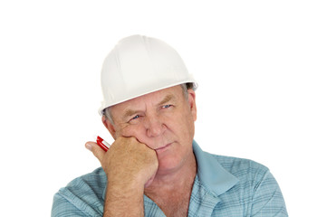 Contemplating Construction Foreman