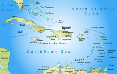 Umgebungskarte der Karibik