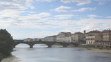 Looking down the river Arno in Florence