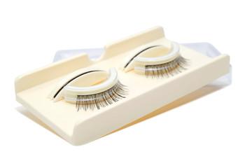 false eyelashes isolated on white