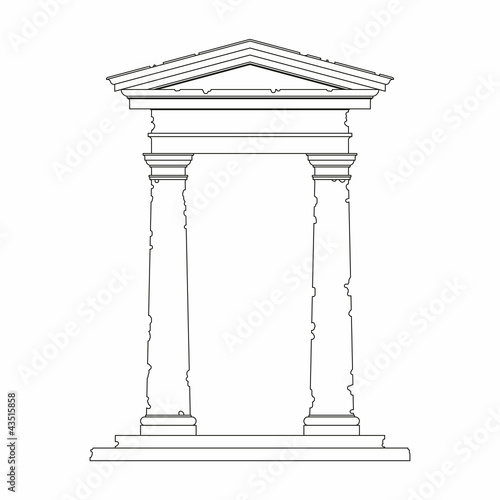 Portal with use of the Tuscan order