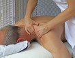 Deep tissue massage to Trapezius muscle