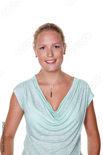 Junge, lächelnde Frau