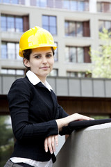 Female construction engineer