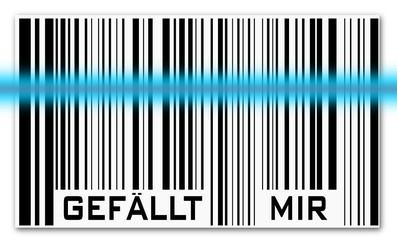 Barcode mit Scanner - gefällt mir