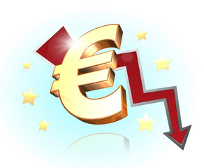 3d Euro down