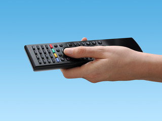 Remote with blue background