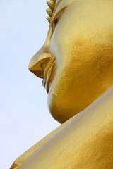 Face of Lord Buddha statue