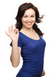 Woman is showing OK sign