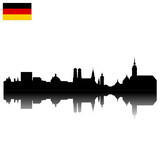 Detailed vector Munich skyline