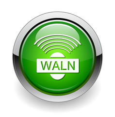 Wi-fi waln web green button