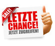 Letzte Chance! Button, Icon