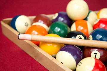 Pool or Billiard Balls and Triangel
