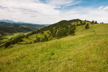 Beautifull view to Slovak landscape, Pieniny