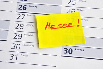 Messe, Termin, Vormerkung, Kalender, Zettel, Organisation