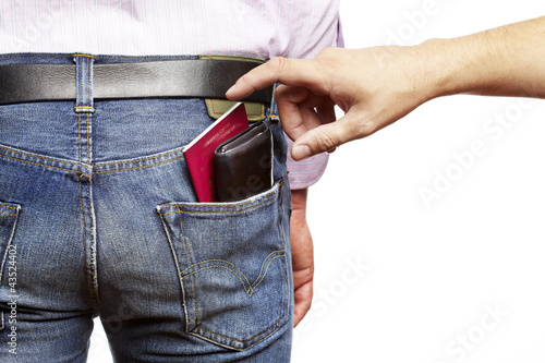 Man being pickpocketed
