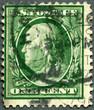 USA - 1908: shows portrait of Benjamin Franklin (1706-1790)