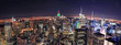New York City Manhattan skyline aerial panorama