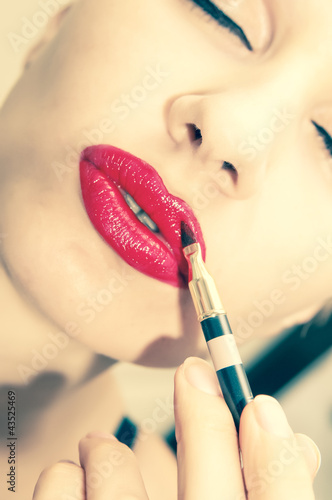 woman make up