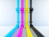 Fototapety CMYK pipelines with valves