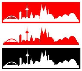 Köln - verschiedene Silhouetten
