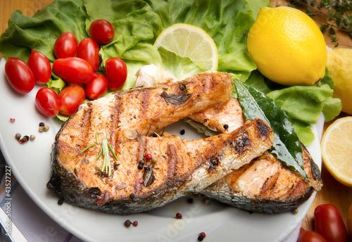 Plakat Łosoś z grilla - Salmone alla griglia