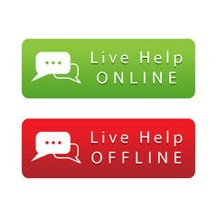 Live Help Button, Green and Red