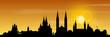 Wiesbaden Skyline Sonnenuntergang
