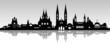 Wiesbaden Skyline grauer Himmel