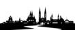 Wiesbanden Skyline mit Rhein