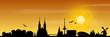 Bremen Skyline Sonnenaufgang