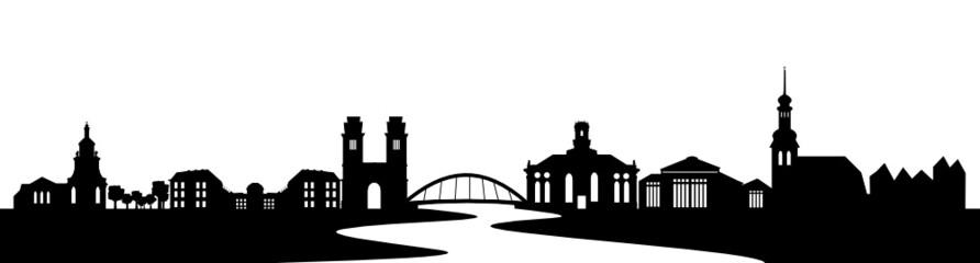 Saarbrücken Skyline mit Saar