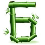 Bambù Numero 6-Bamboo Logo Sign Number 6-Vector
