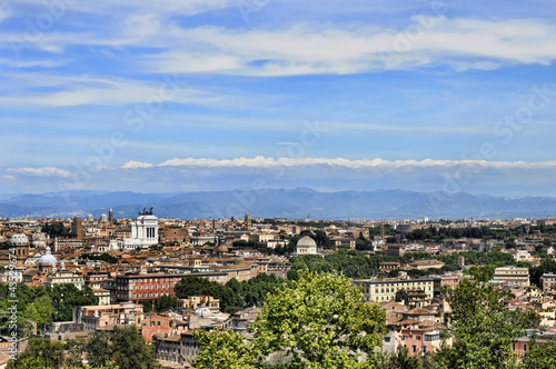 HDR Rome's Panorama from Gianicolo