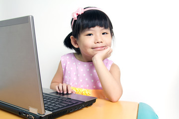 Child with computer