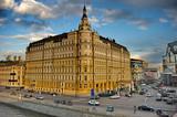 Fototapete See - Straße - Gebäude