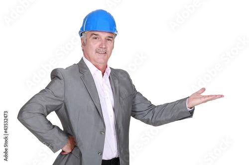 architect gesturing