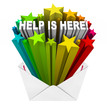 Help is Here Envelope Open Relief Support Assistance