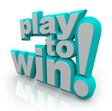 Play to Win 3D Words Determination Positive Attitude poster