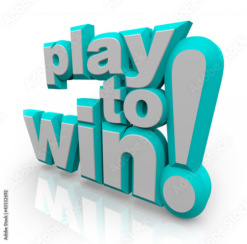 Play to Win 3D Words Determination Positive Attitude