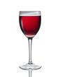 Weinglas mit gekühltem Rosewein