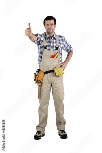 Handyman giving the thumb's up