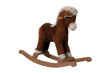 Brown rocking horse chair children