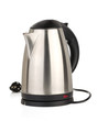 stainless electric kettle isolated on white - 43534850