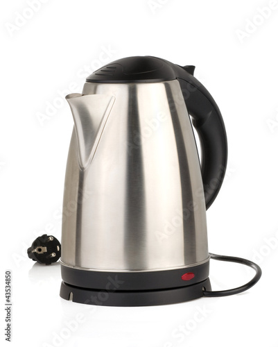 canvas print picture stainless electric kettle isolated on white