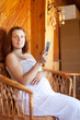 pregnancy woman reads e-book