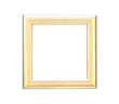 Gold Vintage picture frame on white background