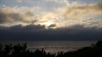 Nebel über dem Meer